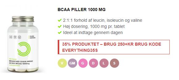 bcaa piller fra bulkpowders