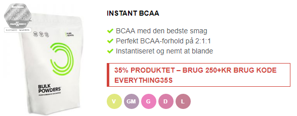 instant bcaa fra bulkpowders